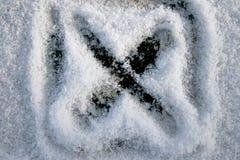 Kristallisiertes x Stockbild