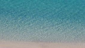 Kristallklart hav som ses från himlen Royaltyfri Foto