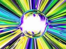 Kristallkugel, die Zukunft erklärt Stockbild