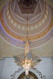 Kristallleuchter in der Moschee Stockfoto