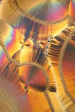 kristallmikroskop under Arkivfoton
