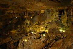 Kristallpalast-Raum in den Höhlen Stockbild