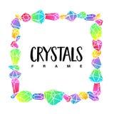 Kristallrahmenschablone stock abbildung