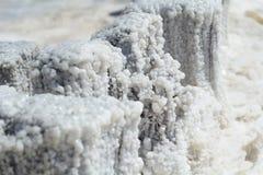 Kristallsalz von See Elton stockfoto