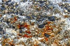 Kristallsteine 3 Stockfoto