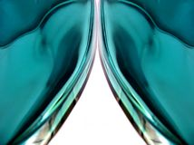 Kristalltrennvorhänge Stockfotografie