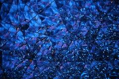 Kristalluniversum im Blau Lizenzfreies Stockbild