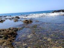 Kristallvatten - hav, lagun royaltyfri fotografi