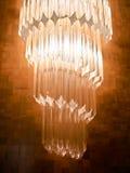 Kristallwandlampe Stockfoto