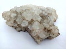Kristalsteen met witte achtergrond, geweven behang als achtergrond stock afbeelding