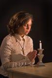 kristen bön arkivfoto