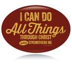 Kristen designâ för tappning kan jag göra all saker Arkivbild