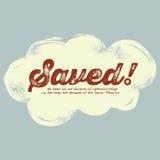 Kristen design för tappning, sparad! Fotografering för Bildbyråer