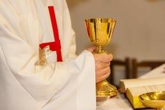 Kristen dyrkan p? den gifta sig ceremonin royaltyfri bild