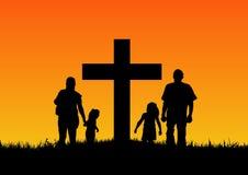 Kristen familj Arkivfoto