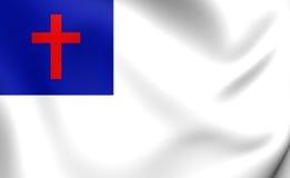 kristen flagga stock illustrationer