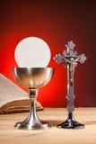 Kristen helig nattvardsgång fotografering för bildbyråer
