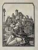 Kristen illustration Gammalt avbilda arkivfoto
