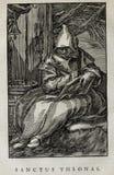 Kristen illustration Gammalt avbilda arkivfoton