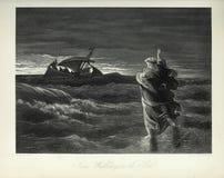 Kristen illustration Gammalt avbilda royaltyfria foton