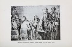 Kristen illustration Gammalt avbilda royaltyfri foto