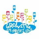 Kristen illustration Växa i förälskelse för Kristus` s royaltyfri illustrationer