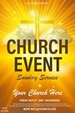 Kristen inbjudanaffischmall Religiöst reklambladkort för gudstjänsthändelse 10 eps vektor illustrationer