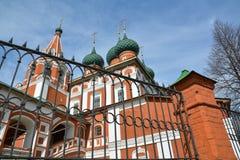 Kristen kyrka av ärkeängeln Michael russia yaroslavl Fotografering för Bildbyråer
