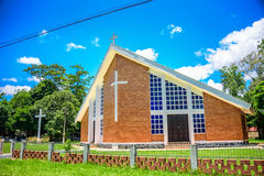 Kristen kyrka bredvid den Iguacu nationalparken Royaltyfria Foton
