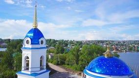 Kristen kyrka för flyg- granskning Ryssland permanent lager videofilmer