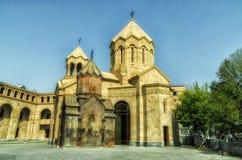 Kristen kyrka i Armenien, Yerevan royaltyfria foton