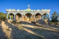 Kristen kyrka i en stad av Axum Arkivfoto