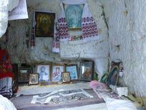 Kristen kyrka i grottorna royaltyfri fotografi