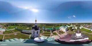 Kristen kyrka och kloster VR360 arkivfilmer