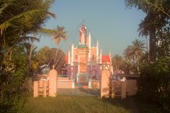 Kristen kyrkogård i Indien royaltyfri foto