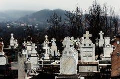 Kristen kyrkogård, Rumänien Arkivbild