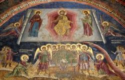 kristen målningsvägg royaltyfri bild