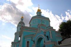 Kristen ortodox kyrka, Moskva, Ryssland fotografering för bildbyråer