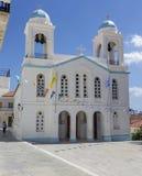 Kristen ortodox kyrklig n?rbildAndros ?, Grekland, Cyclades arkivbild