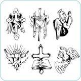 Kristen religion - vektorillustration. Arkivbilder