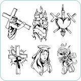Kristen religion - vektorillustration. Royaltyfri Foto