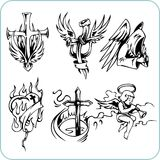 Kristen religion - vektorillustration. Arkivfoto