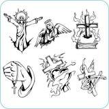 Kristen religion - vektorillustration. Arkivbild