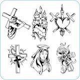 Kristen religion - vektorillustration. Royaltyfri Fotografi