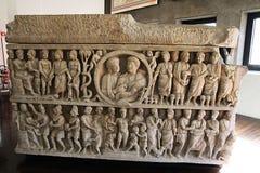 Kristen sarkofag royaltyfri foto