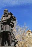 Kristen soldatmonument i den Caravaca de la Cruz fyrkanten, Murcia arkivfoto