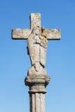 Kristen staty i Frankrike royaltyfri fotografi