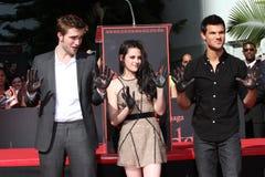 Kristen Stewart, Роберт Pattinson, Taylor Lautner Стоковое Изображение