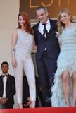 Kristen Stewart & Chloe Grace Moretz & Olivier Assayas Royalty Free Stock Photos