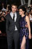 Kristen Stewart, Robert Pattinson. LOS ANGELES - NOV 14:  Robert Pattinson, Kristen Stewart arrives at the Twilight: Breaking Dawn Part 1 World Premiere at Nokia Stock Images